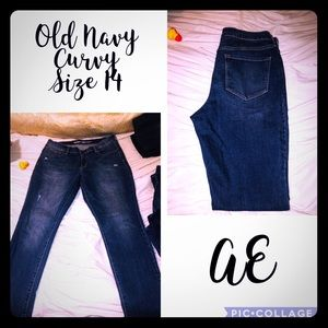 Woman Jeans Size 14 Old Navy Curvy & Diva